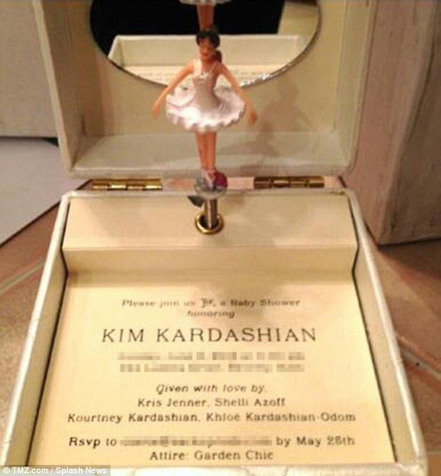 Kim kardashians tacky over the top baby shower invitation photo filmwisefo